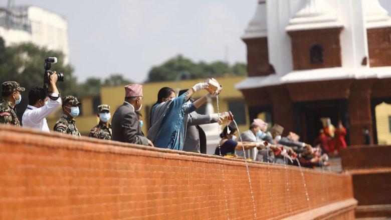 राष्ट्रपति विद्यादेवी भण्डारीद्धारा रानीपोखरीको उद्घाटन