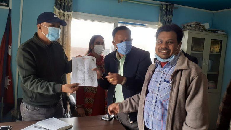 नेपाली कांग्रेस तारकेश्वर समितिले नगरपालिकालाई बुझायो ९ बुंदे ज्ञापन पत्र