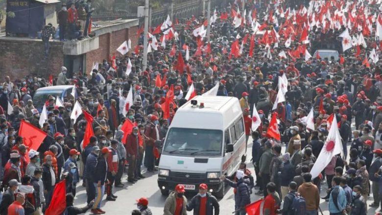 दाहाल–नेपाल समूहले आज काठमाडौंमा बृहत् प्रदर्शन गर्दै, ५ ठाउबाट जुलुस निकाल्ने