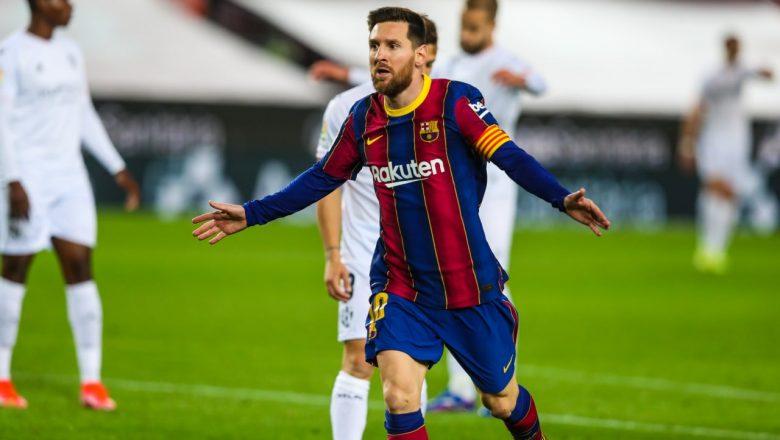 स्पेनिस ला लिगा फुटबलमा बार्सिलोनाको जित, मेस्सीले गरे दुई गोल